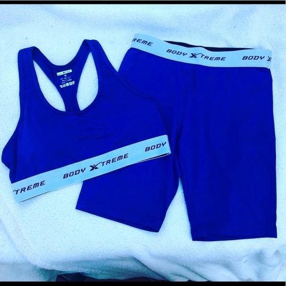 Biker shorts & matching sports bra set